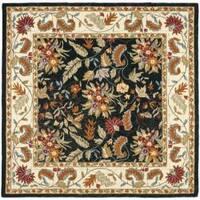 Safavieh Handmade Paradise Black Wool Rug - 6' Square