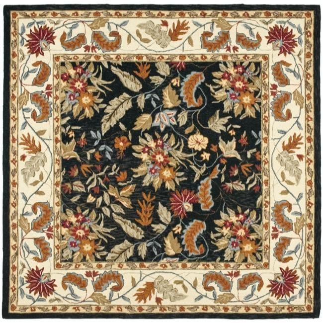 Safavieh Handmade Paradise Black Wool Rug 8 X27 Square