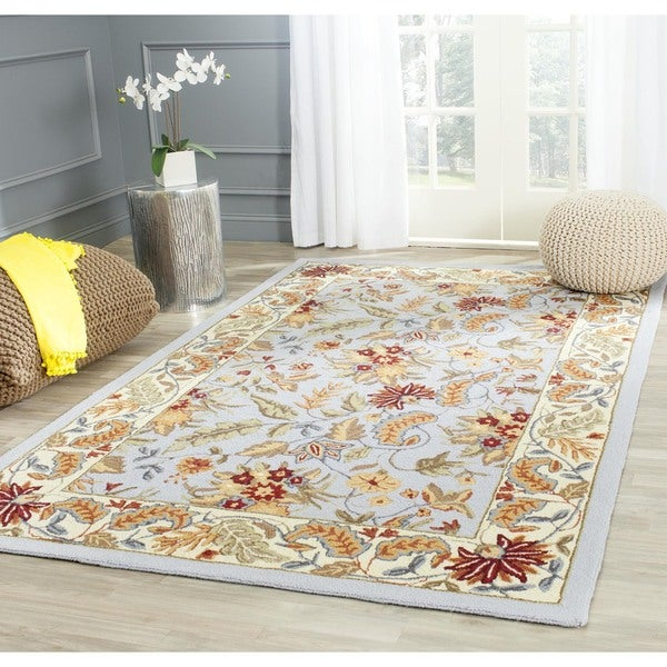 Safavieh Handmade Paradise Light Blue Wool Rug (6' Square)