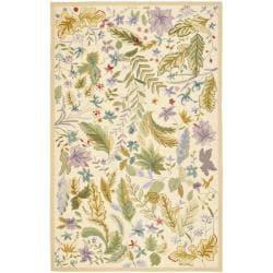 Safavieh Hand-hooked Chelsea Gardens Ivory/ Multi Wool Rug (3'9 x 5'9)