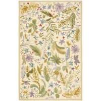 Safavieh Hand-hooked Chelsea Gardens Ivory/ Multi Wool Rug (5'3 x 8'3) - 5'3 x 8'3