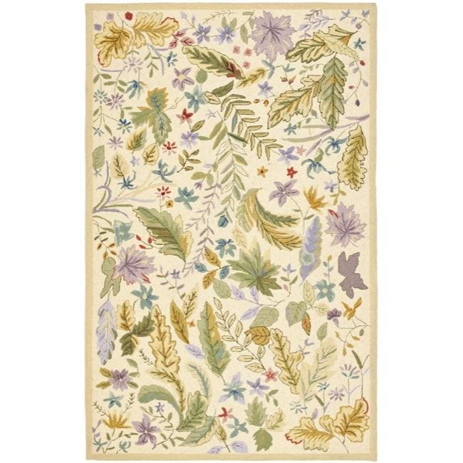 Safavieh Hand-hooked Chelsea Gardens Ivory/ Multi Wool Rug (7'9 x 9'9) - Thumbnail 0