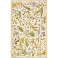 Safavieh Hand-hooked Chelsea Gardens Ivory/ Multi Wool Rug - 7'9 x 9'9