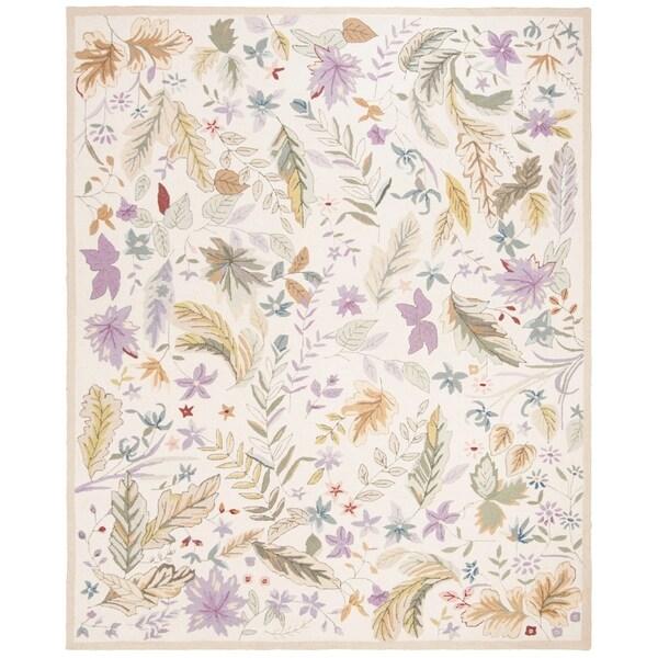 "Safavieh Hand-hooked Chelsea Gardens Ivory/ Multi Wool Rug - 7'9"" x 9'9"""