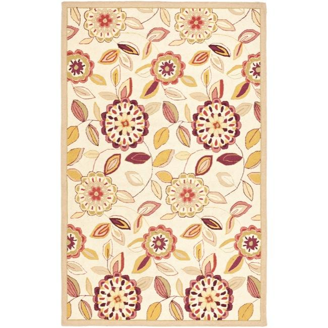 Shop Safavieh Hand Hooked Floral Garden Ivory Pink Wool