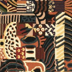 Safavieh Hand-hooked Chelsea Deco Multi Wool Rug (5'3 x 8'3) - Thumbnail 2