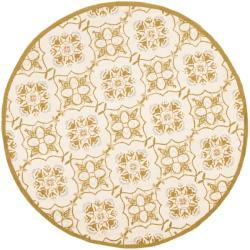 Safavieh Hand-hooked Chelsea Harmony Ivory Wool Rug (4' Round) - Thumbnail 0
