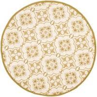 Safavieh Hand-hooked Chelsea Harmony Ivory Wool Rug (4' Round)