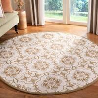 Safavieh Hand-hooked Chelsea Harmony Ivory Wool Rug - 4' x 4' Round
