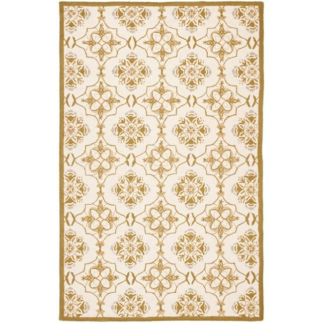 Safavieh Hand-hooked Chelsea Harmony Ivory Wool Rug (5'3 x 8'3)