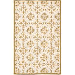 Safavieh Hand-hooked Chelsea Harmony Ivory Wool Rug - 5'3 x 8'3 - Thumbnail 0