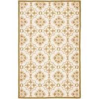 Safavieh Hand-hooked Chelsea Harmony Ivory Wool Rug - 6' x 9'