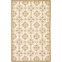 Safavieh Hand-hooked Chelsea Harmony Ivory Wool Rug - 7'9 x 9'9