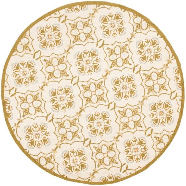 Safavieh Hand-hooked Chelsea Harmony Ivory Wool Rug (8' Round)