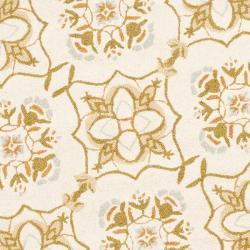 Safavieh Hand-hooked Chelsea Harmony Ivory Wool Rug (8' Round) - Thumbnail 2