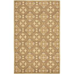Safavieh Hand-hooked Chelsea Harmony Brown Wool Rug - 7'9 x 9'9 - Thumbnail 0