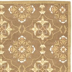 Safavieh Hand-hooked Chelsea Harmony Brown Wool Rug (8'9 x 11'9) - Thumbnail 1