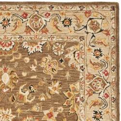 Safavieh Micro Hand-hooked Chelsea Kerman Brown Wool Rug (7'9 x 9'9) - Thumbnail 1