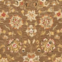 Safavieh Micro Hand-hooked Chelsea Kerman Brown Wool Rug (7'9 x 9'9) - Thumbnail 2