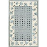 Safavieh Hand-hooked Chelsea Resorts Blue Wool Rug - 5'3 x 8'3