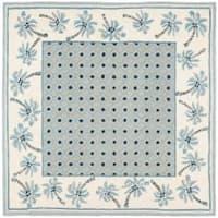 Safavieh Hand-hooked Chelsea Resorts Blue Wool Rug - 6' x 6' Square