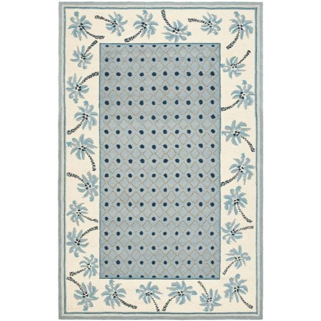Safavieh Hand-hooked Chelsea Resorts Blue Wool Rug - 7'9 x 9'9