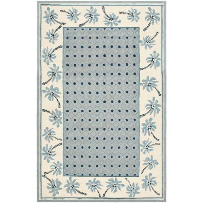 Safavieh Hand-hooked Chelsea Resorts Blue Wool Rug (8'9 x 11'9)