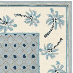 Safavieh Hand-hooked Chelsea Resorts Blue Wool Rug (8'9 x 11'9) - Thumbnail 1
