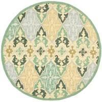 Safavieh Hand-hooked Chelsea Sonet Multicolor Wool Rug (5'6 Round) - 5'6 Round