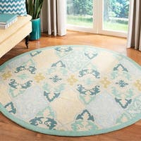 "Safavieh Hand-hooked Chelsea Sonet Multicolor Wool Rug - 5'6"" x 5'6"" round"