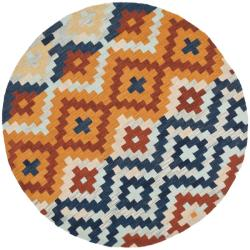 Safavieh Hand-hooked Chelsea Southwest Multicolor Wool Rug (3' Round)