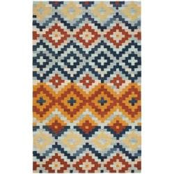 Safavieh Hand-hooked Chelsea Southwest Multicolor Wool Rug (3'9 x 5'9)