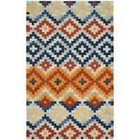Safavieh Hand-hooked Chelsea Southwest Multicolor Wool Rug - 3'9 x 5'9
