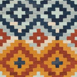 Safavieh Hand-hooked Chelsea Southwest Multicolor Wool Rug (5'3 x 8'3) - Thumbnail 2