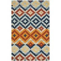 Safavieh Hand-hooked Chelsea Southwest Multicolor Wool Rug - 5'3 x 8'3