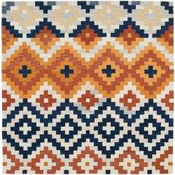 Safavieh Hand-hooked Chelsea Southwest Multicolor Wool Rug (6' Square)