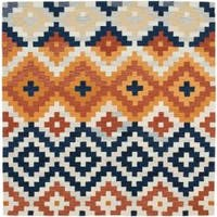 Safavieh Hand-hooked Chelsea Southwest Multicolor Wool Rug - 6' x 6' Square