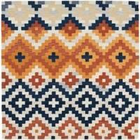 Safavieh Hand-hooked Chelsea Southwest Multicolor Wool Rug - Multi - 6' x 6' Square