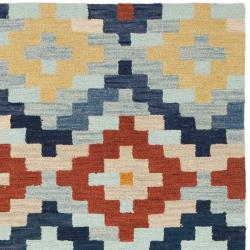 Safavieh Hand-hooked Chelsea Southwest Multicolor Wool Rug (7'9 x 9'9)