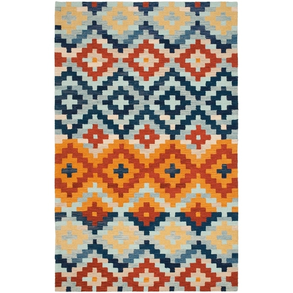 Safavieh Hand-hooked Chelsea Southwest Multicolor Wool Rug - 7'9 x 9'9