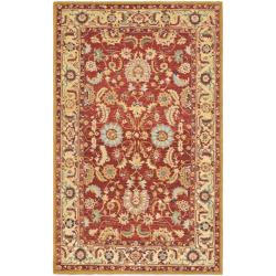 Safavieh Hand-hooked Chelsea Heritages Red Wool Rug (5'3 x 8'3)
