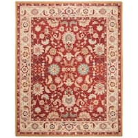 "Safavieh Hand-hooked Chelsea Heritages Red Wool Rug - 8'-9"" x 11'-9"""