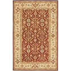 Safavieh Hand-hooked Chelsea Treasures Ivory Wool Rug (5'3 x 8'3)