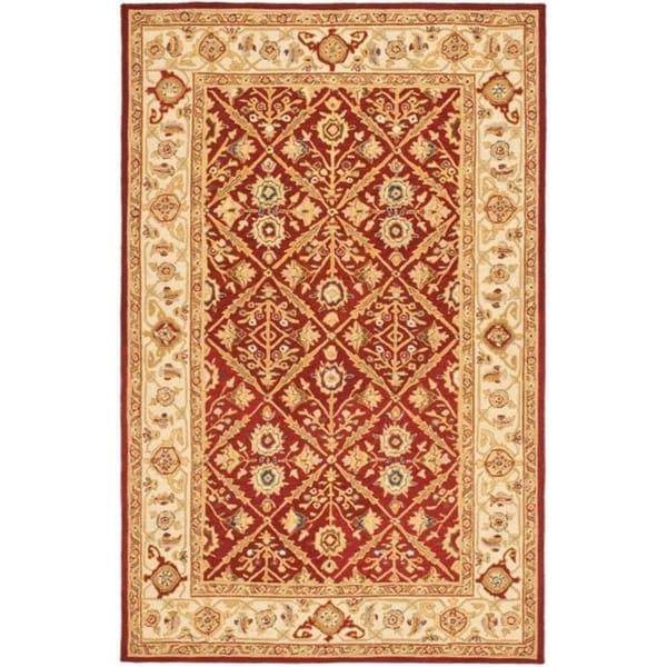 """Safavieh Hand-hooked Chelsea Treasures Ivory Wool Rug - 8'9"""" x 11'9"""""""