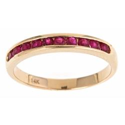 Anika and August 14k Yellow Gold Ruby Fashion Ring