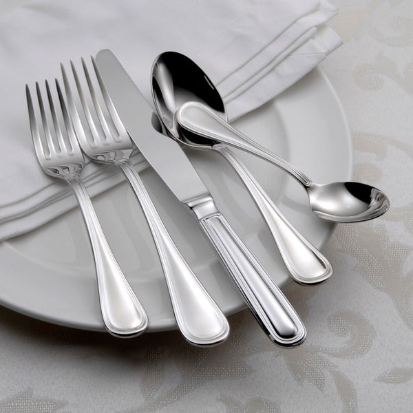 Oneida Omnia Stainless Steel 62-piece Flatware Set (Service for 12). Opens flyout.