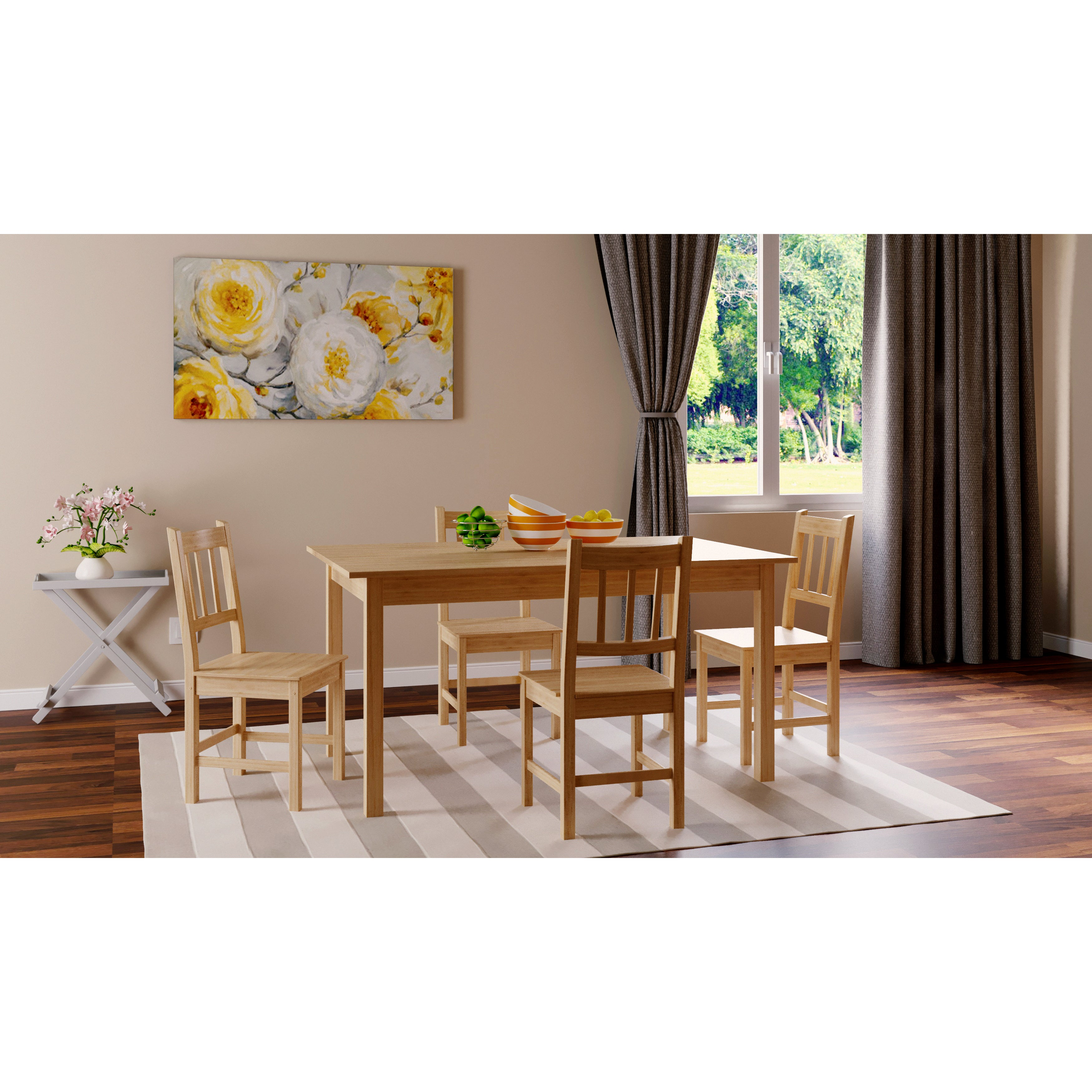 Simple Living Bamboo 5-piece Dining Set (5pc Bamboo Dinin...