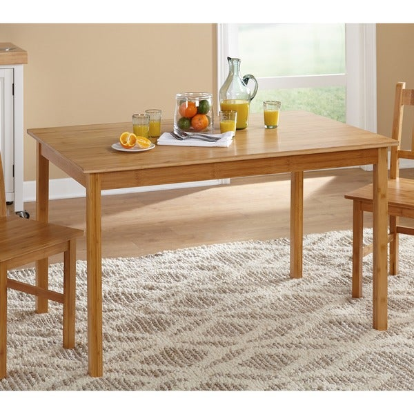 Perfect Simple Living Bamboo 5 Piece Dining Set   Free Shipping Today    Overstock.com   13494705