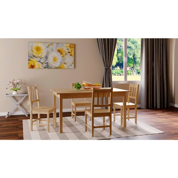 Shop Simple Living Bamboo 5-piece Dining Set - Free Shipping ...