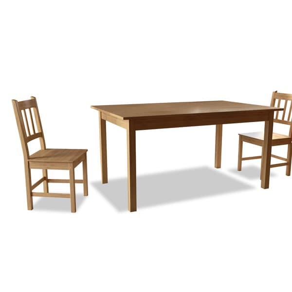 Attractive Simple Living Bamboo 5 Piece Dining Set   Free Shipping Today    Overstock.com   13494705